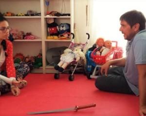 Durante la formazione con il Play Therapist CLAUDIO MOCHI